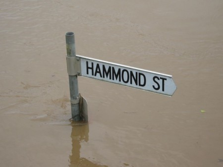 Hammond Street Bellingen in flood Feb 2009