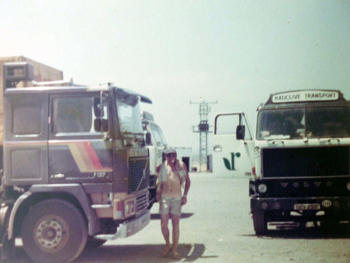 1970s Trucking In England Europe And The Middle East Malcolm Coates 19601970 Mercedes Benz Trucks Our Family Steve Val Suzanne Dog Bella Around 1978